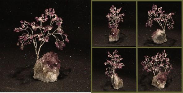 Amethyst on Amethyst cluster