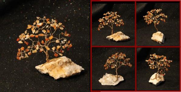 Carnelian Agate on Quartz Cluster