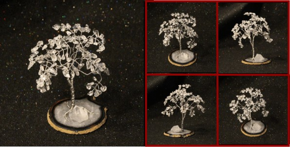 Crystal Quartz on Brazil Agate